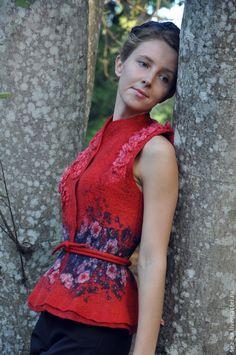 Vesty ruční práce.  Objednat Rimina- panovník Poledne ... Svetlana Vronska (sea-na).  Fair Masters.  Mokré plstění