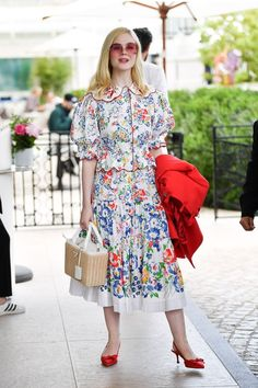 Elle Fanning has made headlines for years for her Cannes Film Festival style, but this year, the actress will be out at the film premieres daily as a member of the festival's jury. Here, a look at all her incredible outfits. Haute Couture Skirts, Dior Haute Couture, Gucci Gown, Valentino Gowns, Spring Fashion, Fashion Show, Fashion Outfits, Fashion Design, Star Fashion