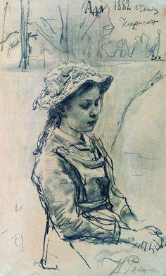 Ilya Repin ~ Ada, 1882 (pencil)