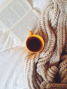 Curling up with a cup of coffee and book is my favorite winter activity