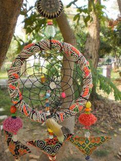 Dream Catcher Handmade with Tribal Hmong Textiles by KulshiMumkin, $15.00