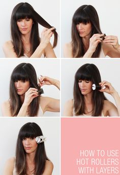 How to hot roller your hair when you have layers.