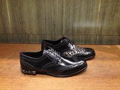 Leather lace-up shoe by @dolcegabbana! #DolceGabbana #dgwoman #dgfw14 #shoes #studs #FolliFollie #FW14collection