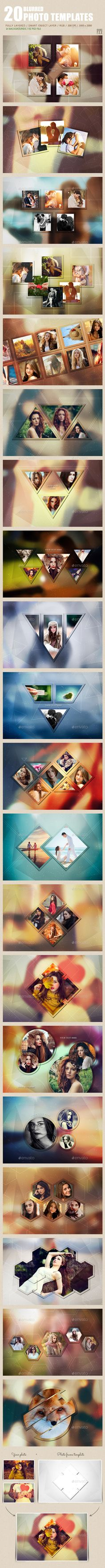 20 Blurred Photo Templates #photography #psd Download: http://graphicriver.net/item/20-blurred-photo-templates/12649082?ref=ksioks