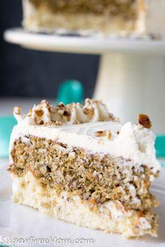 Low Carb Carrot Cake Cheesecake (Nut Free, Gluten Free) Keto Atkins THM