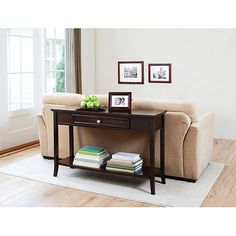sofa table- to display more photos and a little extra storage