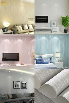 plain warm living striped bedroom paper vertical roll minimalist woven non solid backdrop cheap