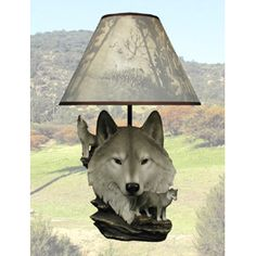 Moon Call Wolf Lamp $66