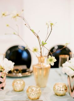 I like the gold votive candle holders.... and that's about all in this pic ;)