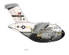 Boeing C 17 Globemaster Airplane Humor, Airplane Crafts, Airplane Art, Fly Drawing, Plane Drawing, Aviation Humor, Aviation Art, Caricature, Airplane Quilt