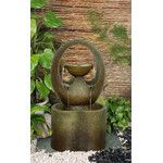 <strong>Abrazo Outdoor Resin Tiered Fountain</strong> by Alfresco Home