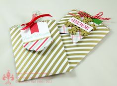 Stampin' Up! by First Hand Emotion: Mini Treat Bags with Christmas tags