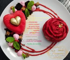 Cupcakes, Cupcake Cakes, Mousse, Plated Desserts, Cheesecake, Flowers, Raspberry, Dessert Plates, Cheesecakes