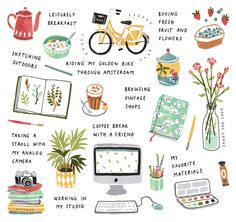 A day in my life - illustrated for Flow Magazine by Sanny van Loon • Illustration