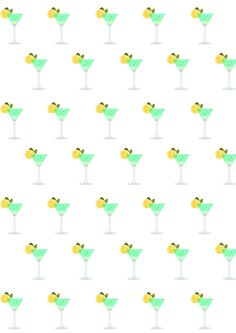 FREE printable cocktail and lemonade pattern paper | summer cocktail