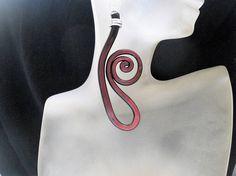 Polymer Clay earrings Swirls earrings Trendy earrings Modern earrings Stylish earrings Unusual earrings Original earrings Fashion earrings