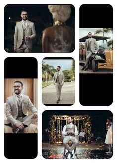 Fato de noivo de linho bege/creme Wedding day. Love. Groom ♡ Casamento Rústico Movie Posters, Ring Boy, Wedding Rustic, Grooms, Taupe, Bride Dressing Gown, Bridesmaids, Film Poster, Popcorn Posters