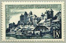 Uzerche Série sites et monuments 1955 - Timbre de 1955