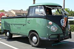 VW Bus converted to a pickup truck. Tustin, CA 2011