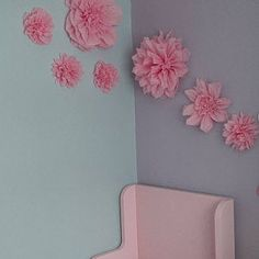 Paper pom pom flowers weddings decorations flower wall backdrop birthday pink choose colours available Pom Pom Flowers, Tissue Paper Flowers, Paper Flower Decor, Paper Flowers Wedding, Flower Wall Backdrop, Wall Backdrops, Party Centerpieces, Flower Centerpieces, Paper Sunflowers