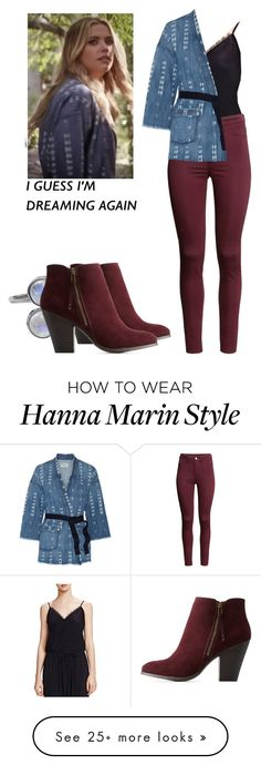 """""""Hanna Marin - pll / pretty little liars"""" by shadyannon on Polyvore featuring The Kooples, H&M, Current/Elliott and Charlotte Russe"""