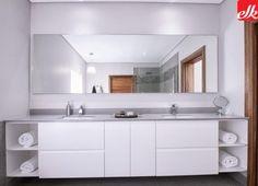 BATHROOM VANITIES Archives | Easylife Kitchens Bathroom Vanities, Bathrooms, Built In Cupboards, Storage Design, Double Vanity, Kitchens, House Design, Kitchen Products, Mirror