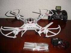 2 Akkus UFO QUADROCOPTER DROHNE  DJI Phantom Style HD Kamera 2GB 2.4GHz 4-KANAL
