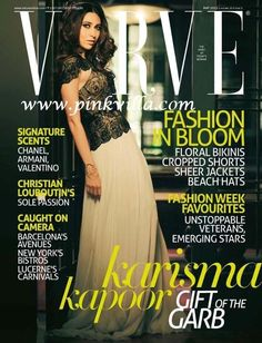 Karishma Kapoor wears a Suhani Pittie cuff and hairband on the cover of Verve.