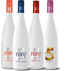 Funf Wines: Moscato, Sassy White, Sweet Red and Sangria. The Fun begins at 5!