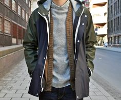 layering.    guys always have the best clothing.