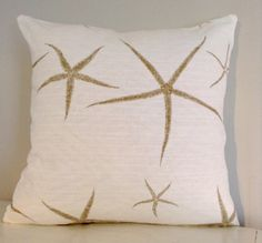 Romancing the Star Fish! 18x18 Designer Pillow Cover, A True Beauty, Gorgeous High End Fabric