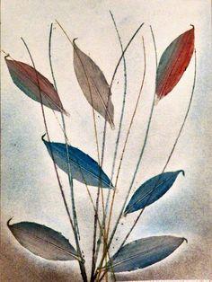 Leaves in the Wind Wall Art Deco Art Illustration por Tutorialpaper
