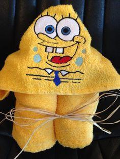 Sponge Bob hooded bath towel