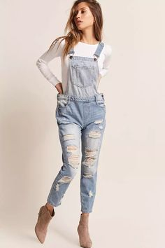 Product Name:Distressed Denim Overalls, Category:dress, Price:35