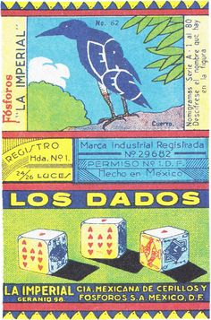 Mexican matchbox designs via Au carrefour étrange #matchbox