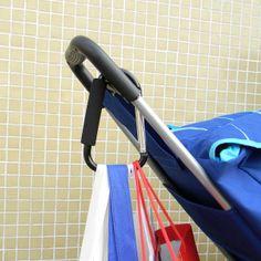 Black Color Extra-large D-Shape Super-handy Snap Hook Hanger Bags Holder Carrier Mommy Hook