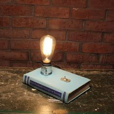 book lamp with edison bulb gift for nurse industrial desk lamp bedside lamp edison lamp minimalist lighting librarian gift