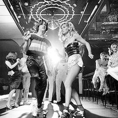 Roller boogie fashion at Faces Disco, Rush Street, 1978, Chicago.