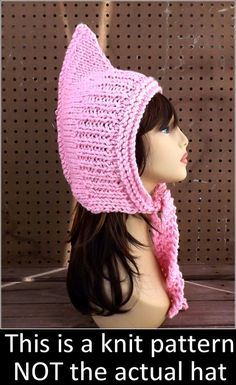 Click Knitting Pattern Hat Knitted Hat Pink Hat Knit Hood Pattern Warrior Hat Warriors Hat Warrior Princess Oversized Knitting Pattern by strawberrycouture Craft Patterns, Knitting Patterns, African Hats, Knitted Hats, Crochet Hats, Hood Pattern, Pink Crafts, Pink Hat, Warrior Princess
