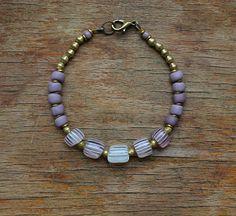 Pink gooseberry bracelet with lavender Venetian trade beads, antique trade bead bracelet Making Bracelets, Beaded Bracelets, Lavender Seeds, Bohemian Style Jewelry, Boho Hippie, Venetian, Seed Beads, Fashion Jewelry, Corner