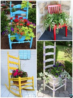DIY Broken Chair Planter Instructions-20 DIY Upcycled Container Gardening Planters Projects