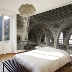 What a mural, looks so real !Ogive Arches Mural (also, furniture & fashion) Interior And Exterior, Interior Design, Deco Design, Design Design, My New Room, Sweet Home, New Homes, House Design, Home Decor