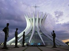 The Cathedral of Brasília -a Roman Catholic cathedral in Brazil.