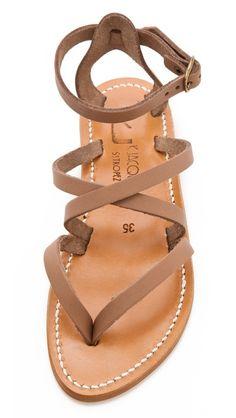 K. Jacques Epicure Crisscross Sandals