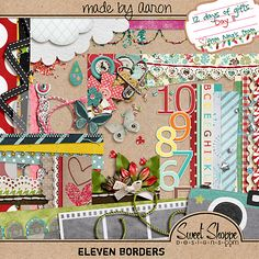 Eleven Borders clusters freebie from Wild Dandelion #digiscrap #scrapbooking #digifree #scrap #freebie #scrapbook