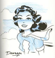Original Comic Art titled Mary Marvel by Darwyn Cooke, located in Bill's Marvel Family - The Big Book - pt. Comic Book Artists, Comic Artist, Comic Books Art, Dark Comics, Dc Comics Art, Catwoman, Captain Marvel Shazam, Cinema, Morning Cartoon