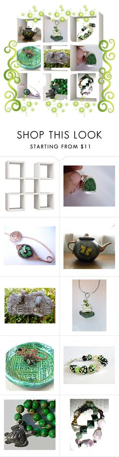 """Lovely Greens"" by artbymarionette ❤ liked on Polyvore featuring handmade, shopsmall, integrityTT and EtsySpecialT"