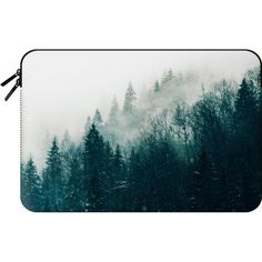 Macbook Sleeve - The Silent Forest Macbook Case ($60) ❤ liked on Polyvore featuring accessories, tech accessories and macbook sleeve