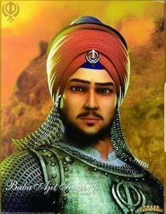 Baba Ajit Singh ji Eldest son of Guru Gobind Singh ji Guru Nanak Ji, Nanak Dev Ji, Zorawar Singh, Guru Granth Sahib Quotes, Guru Pics, Guru Gobind Singh, Gurbani Quotes, Flower Video, Cool Art