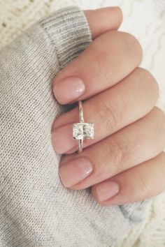 Emerald ring emerald cut ring emerald cut cz cz by CallieJewelry